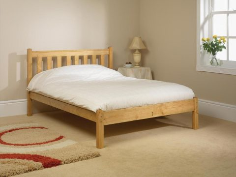 Pine bed manfacturer Shaker Low Foot