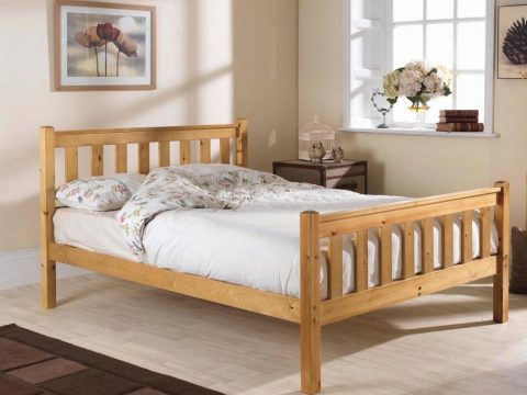 Pine bed manufacturer high foot bed
