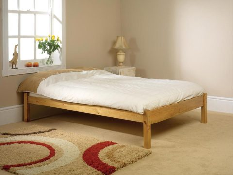Pine bed manufacturer low head and foot