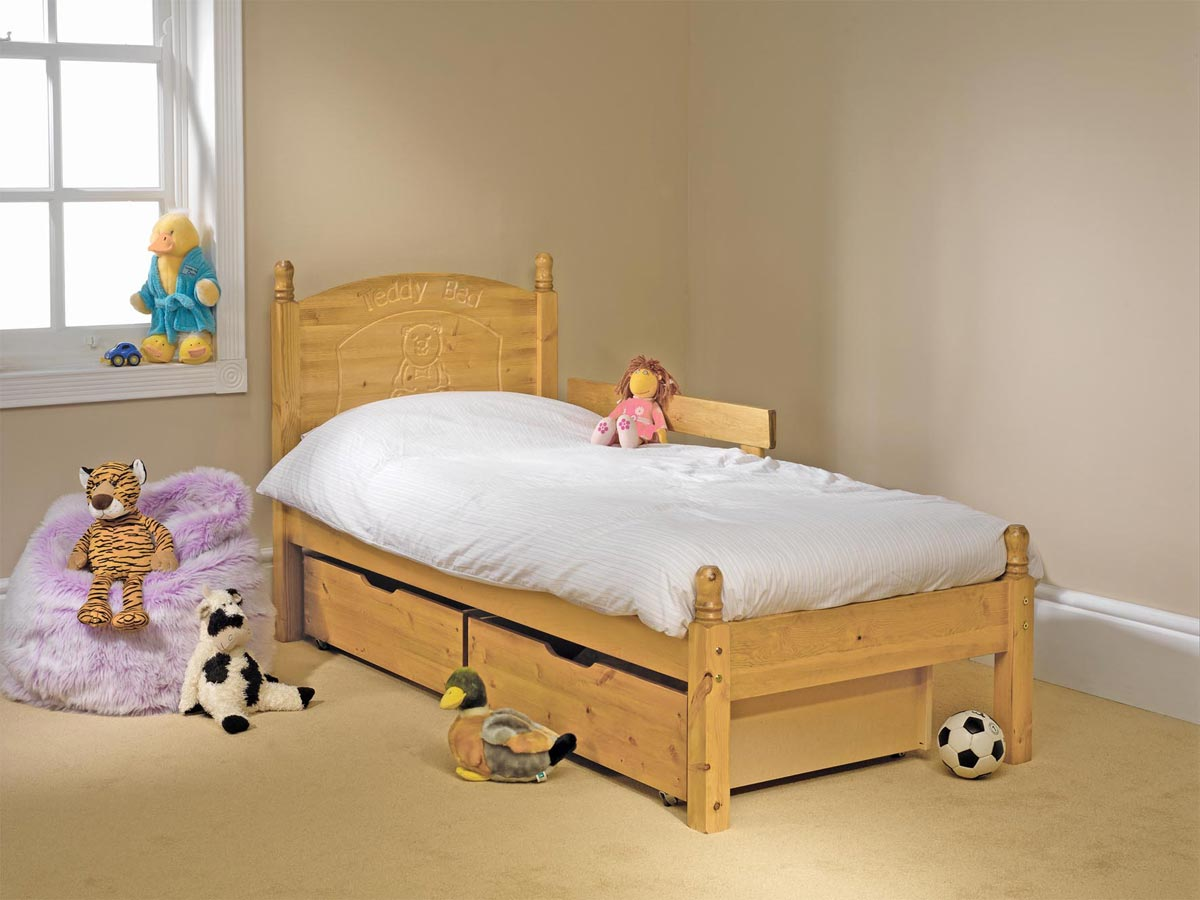Pine Bed Manufacturer Low Foot End Childrens