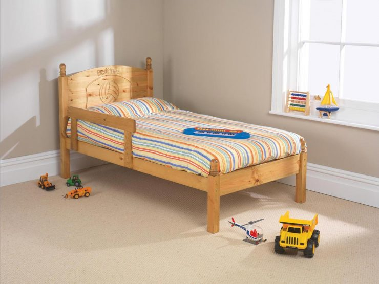 Pine bed manufacturer low foot end children's bed