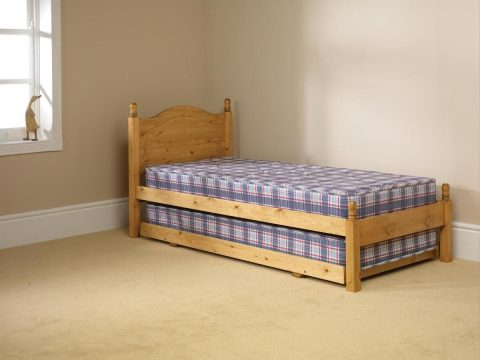 Pine bed manufacturer guest pull out bed