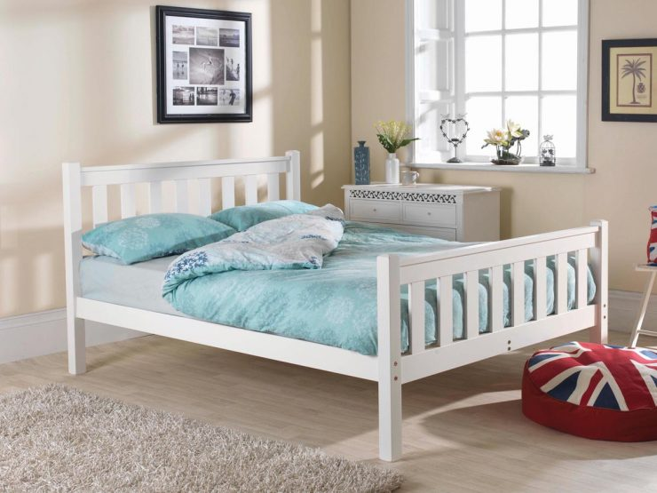 Pine bed manufacturer high foot end