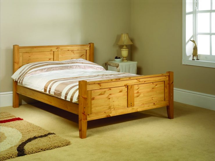 Pine bed manufacturer conniston high foot end