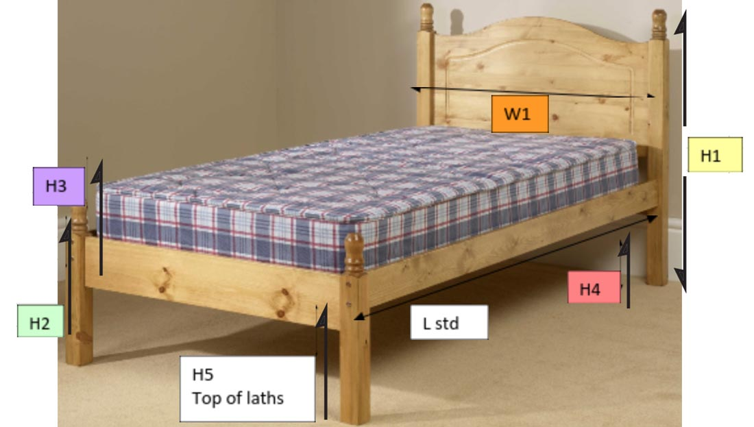 MADE TO MEASURE PINE BED