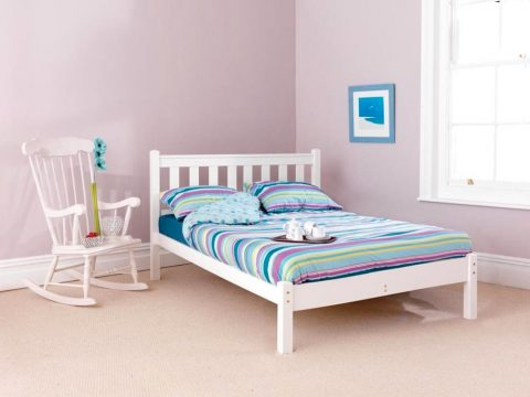 Pine bed manufacturer low foot end